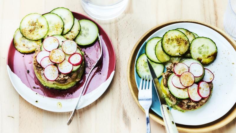 Millfeuille thon-legumes